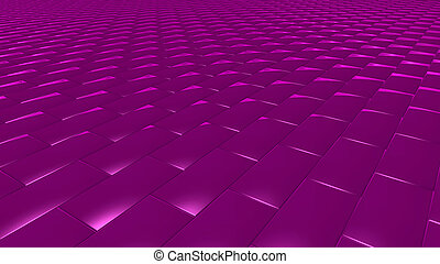 3D abstract magenta pattern brick