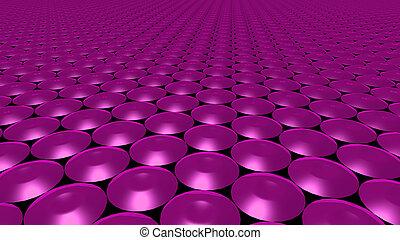 3D abstract magenta pattern circle