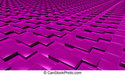 3D abstract magenta pattern layer