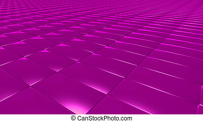 3D abstract magenta pattern rectangle