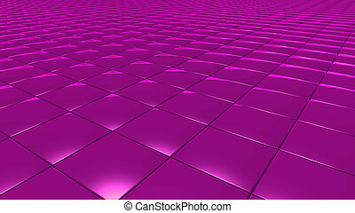3D abstract magenta pattern square