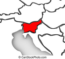 3D Abstract Map Slovenia Europe Continent Countries