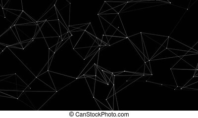 3d Abstract Network concept . Future Technology loop Background