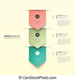 3d abstract origami infographics