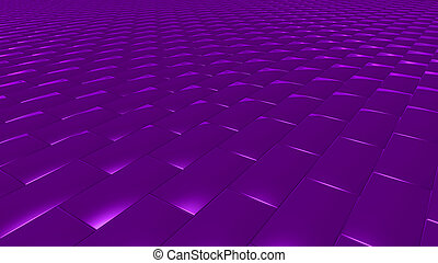 3D abstract purple pattern brick