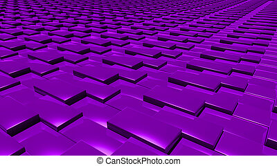 3D abstract purple pattern layer