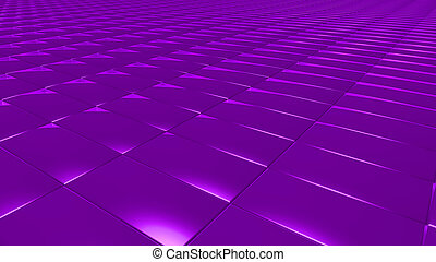 3D abstract purple pattern rectangle