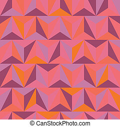3d abstract pyramidal pattern. Colorful vector illustration