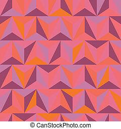 3d abstract pyramidal pattern. Colorful vector illustration