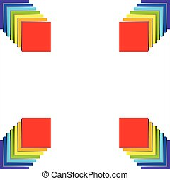 3D Abstract rainbow colors background or frame.
