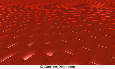 3D abstract red pattern brick