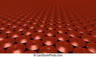 3D abstract red pattern circle