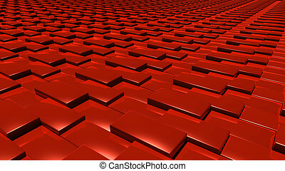 3D abstract red pattern layer