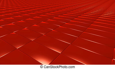 3D abstract red pattern rectangle