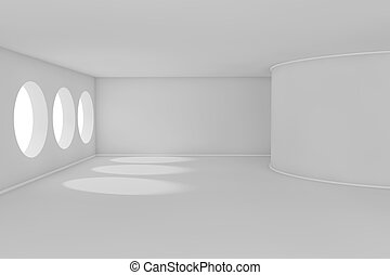 3d abstract room
