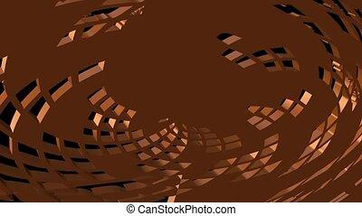 3d, abstract, rooster, voorwerp, draaien, het zoemen, en, het veranderen, in, een, monochroom, achtergrond