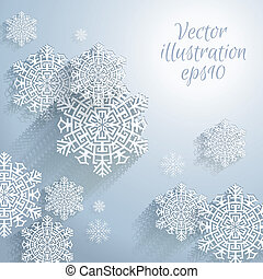 3D Abstract Snowflakes