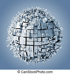 3d abstract sphere background