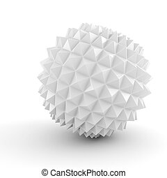 3d abstract sphere on white background