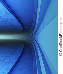 3d abstract structure
