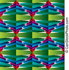 3D abstract surface seamless pattern, geometric vector backgroun