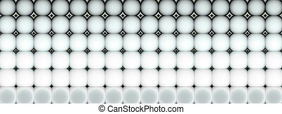 3d abstract tiled mosaic background in gray black white