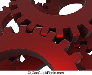 3d, abstract, toestellen, concept., 3d, gereproduceerd, illustartion