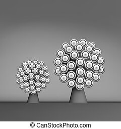 3d Abstract Tree. Leadership Vector