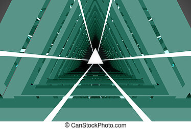 3d abstract tunnel .3d illustration