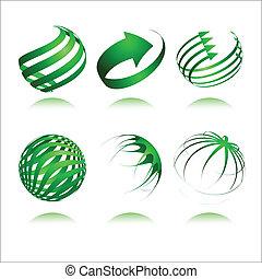3d abstract vector design
