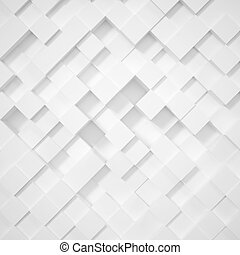 abstract white background rhombus, cubes.