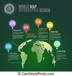 3D Abstract World Map