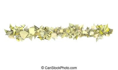 3d abstract yellow spiked shape on