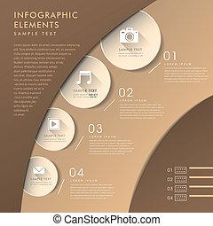 3d, abstrakcyjny, wykres, infographics