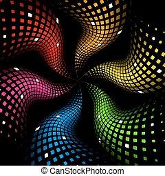 3d, abstrakt, dynamisch, regenbogen, hintergrund