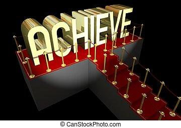 3D achievement concept