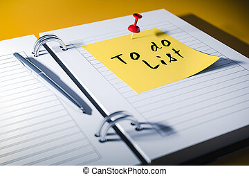 3d agenda with to do list sticky note