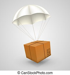 air parcels on a white background - 3d air parcels on a ...