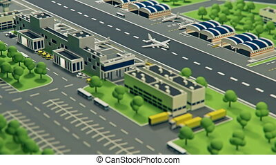 3d airport with planes animation - 3d airport with planes...