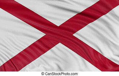 3D Alabama Flag