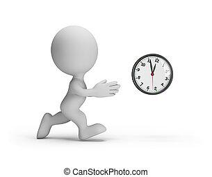 3d, alcance, homem, tempo