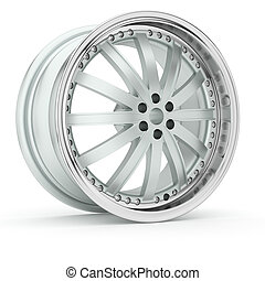 3d Alloy. - 3d wheels in the background.