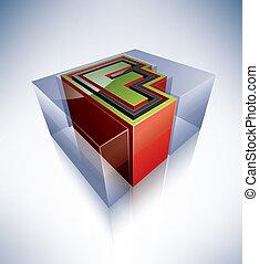3D alphabet: Capital letter F