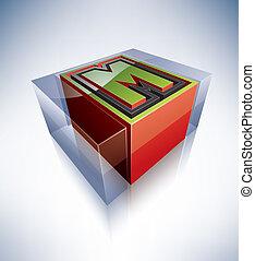 3D alphabet: Capital letter M