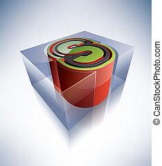 3D alphabet: Capital letter S