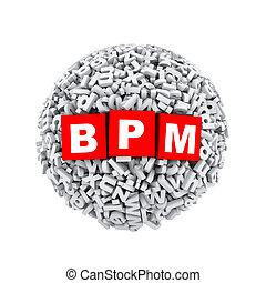 3d alphabet letter character sphere ball bpm