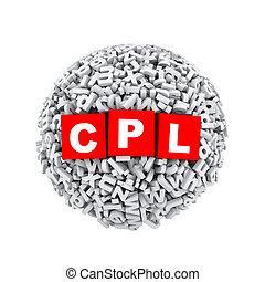 3d alphabet letter character sphere ball cpl