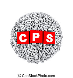3d alphabet letter character sphere ball cps