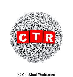 3d alphabet letter character sphere ball ctr