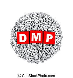 3d alphabet letter character sphere ball dmp